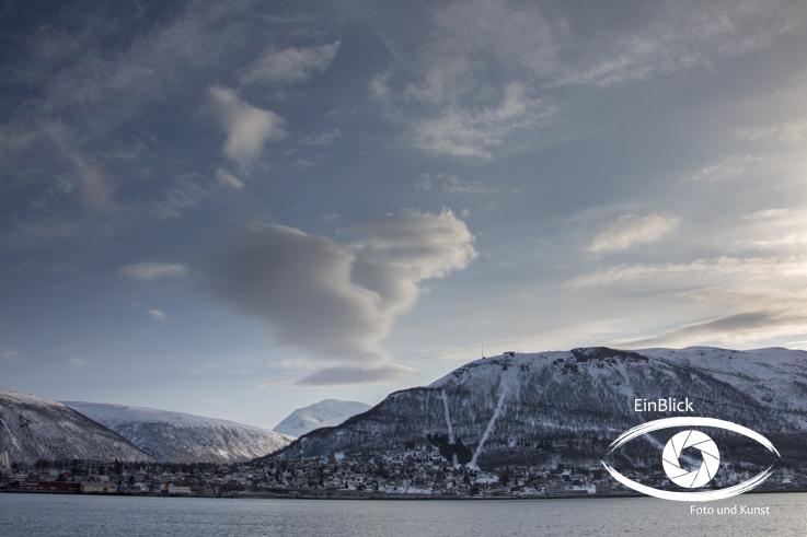 Der Blick vom Hafen aus Tromsö 16